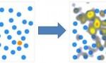 Le point orange est plus saillant que les points bleus. Il est logiquement plus regardé.